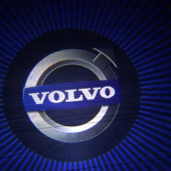 Volvo 2x cars logo wireless door lights led shadow NWT